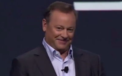 This image of Jack Tretton appears entirely innocent until you realize it's his murder face.