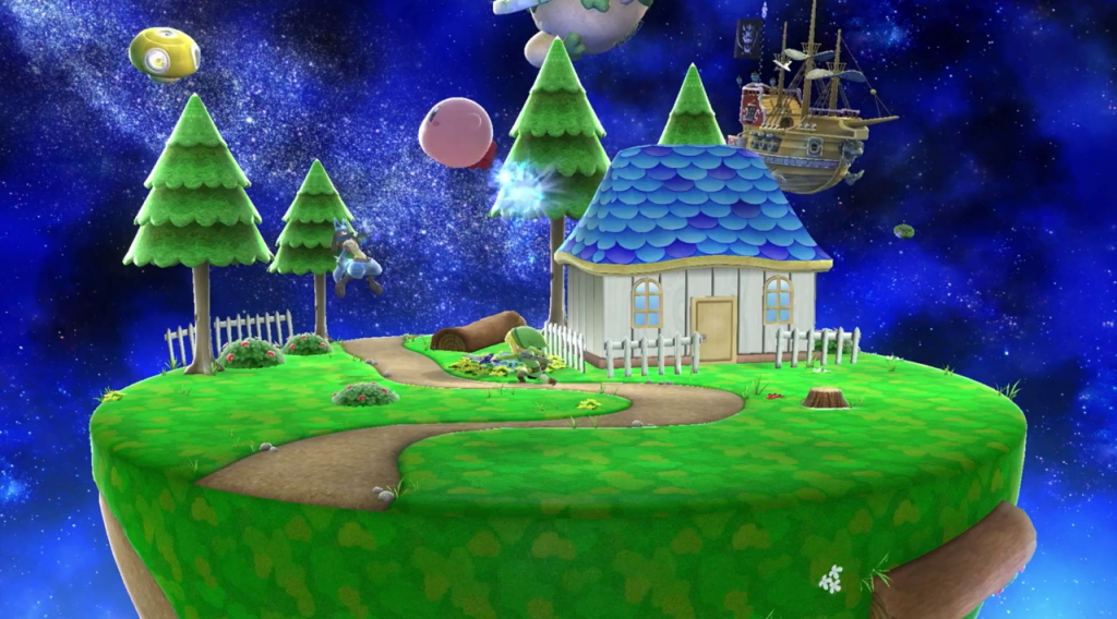Final Destination-themed Mario Galaxy stage.