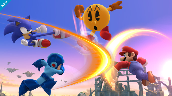 Mario vs. Sonic vs. Mega Man vs. Pac-Man.  Who else thought we'd never see the day?