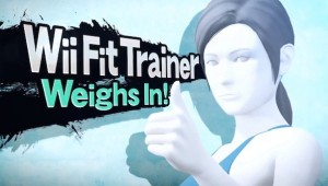 The Wii Fit Trainer (both guy and girl) is just one of the 40 characters or so you'll be able to use right out of the gate.