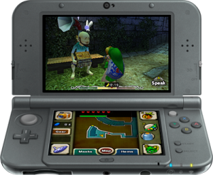 Using the C-Stick on the New Nintendo 3DS XL allows you to freely move the camera around.