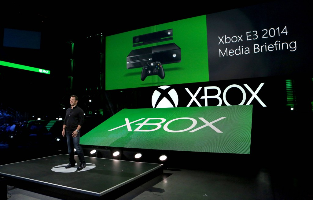 Phil Spencer, Head of Xbox, at the Xbox E3 2014 Media Briefing at the Galen Center on Monday, June 9, 2014 in Los Angeles. (Photo by Casey Rodgers/Invision for Microsoft/AP Images)
