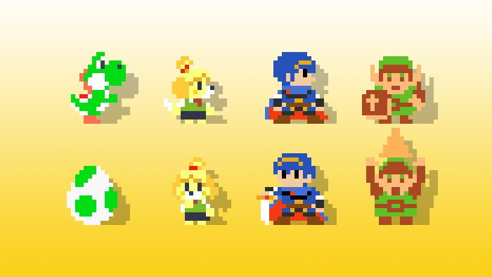 The game features costumes you unlock through 100 Mario Challenge or Amiibo, so you can use other popular Nintendo characters in the game. Holding up allows each character to pose!