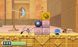 Chibi-Robo can use his plug and cord to attack enemies diagonally and right in front of him.