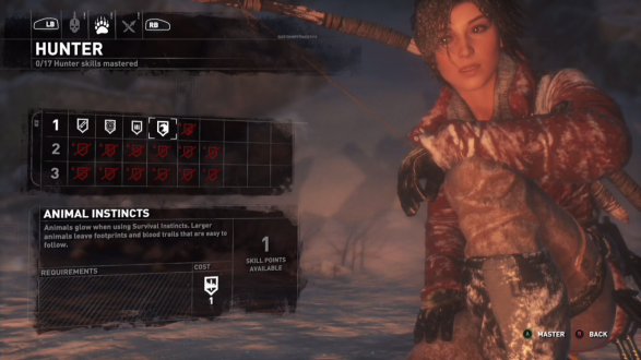 Campfires. The only time you have for Lara to level up and selectively warp to another campfire.