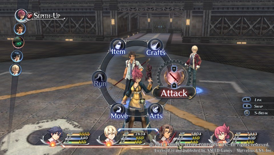 Not much has changed in the Trails battle system, but it didn't need any change anyway.