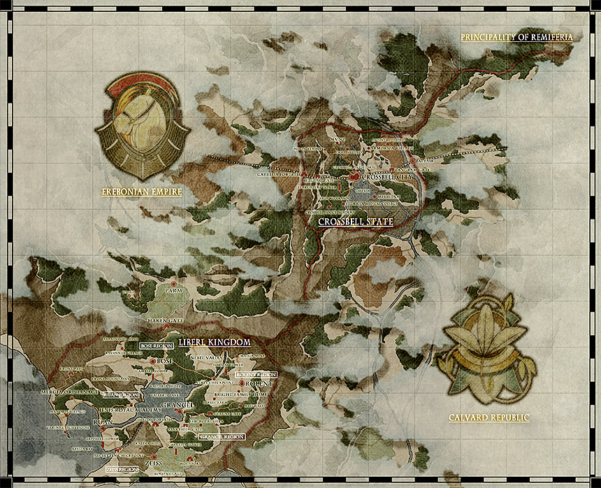 Zemuria is a continent so vast that Nihon Falcom hasn't even completed a defined map yet.