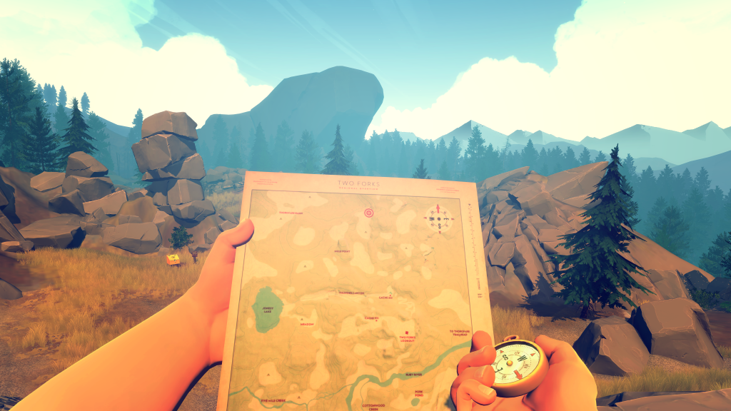 Firewatch takes place in the '80's. So yes, you actually have to use a paper map.