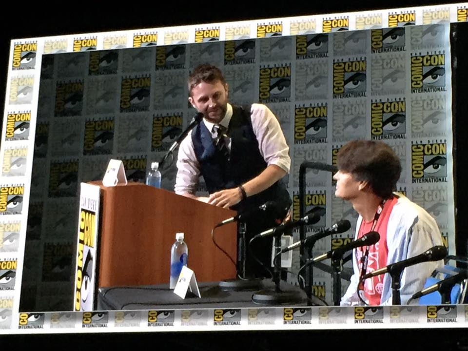 Nerd host extraordinaire Chris Hardwick was on-hand to moderate the Pokémon GO panel, as he seemingly lives in Hall H.