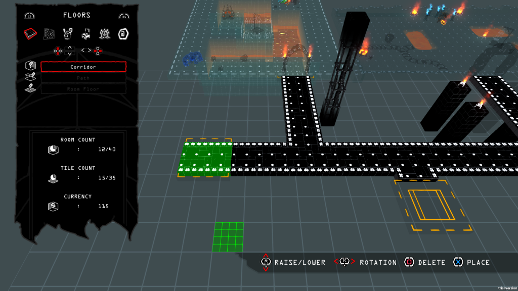 You can create and publish your own levels for others to play. Dig that retro editor look?
