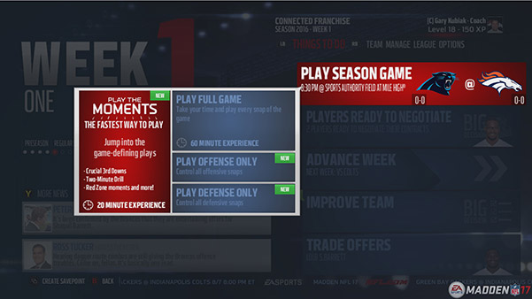 "Now you can ""Play the Moments"" to go through Franchise Mode games faster."