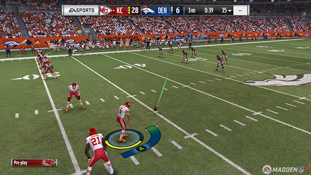 """Madden goes back to the 3-click system, but you still can't perform """"surprise"""" onside kicks."""