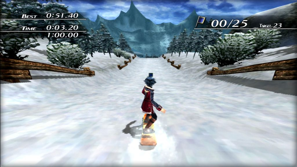 Yes, you can snowboard in the game.