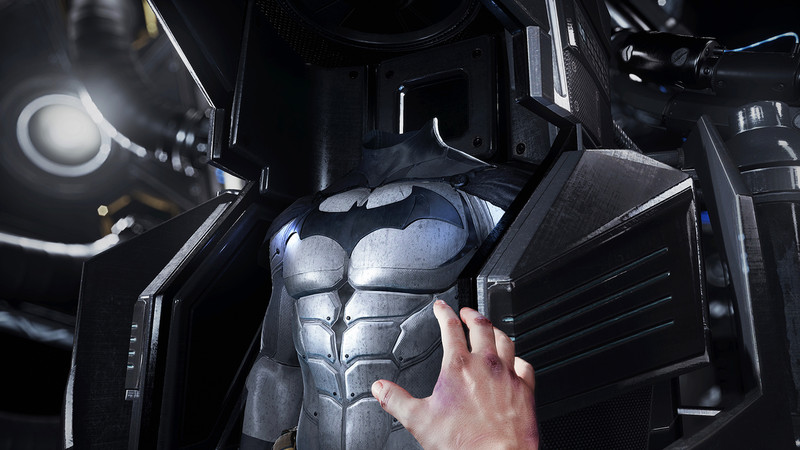 The precious suit. It's so close, I can almost touch it.