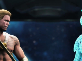 """Injustice 2"" Aquaman Hands-On"